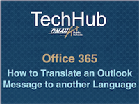 How to Translate an Outlook message to over 65 languages in a few clicks